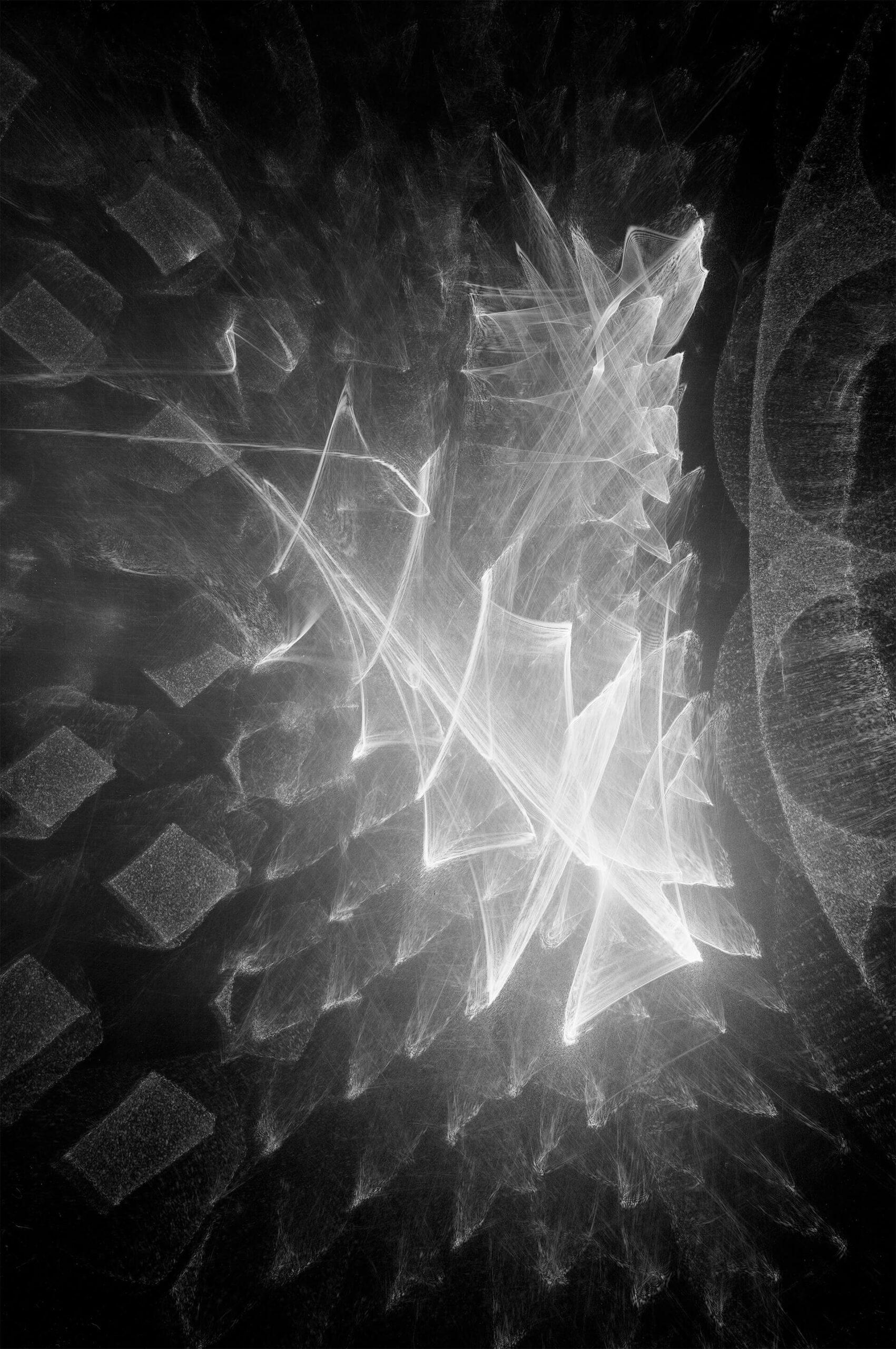 """Fotografia laserowa początek lat 80-tych<br> Bartoszko Leokadia """"Laserowe 4"""""""