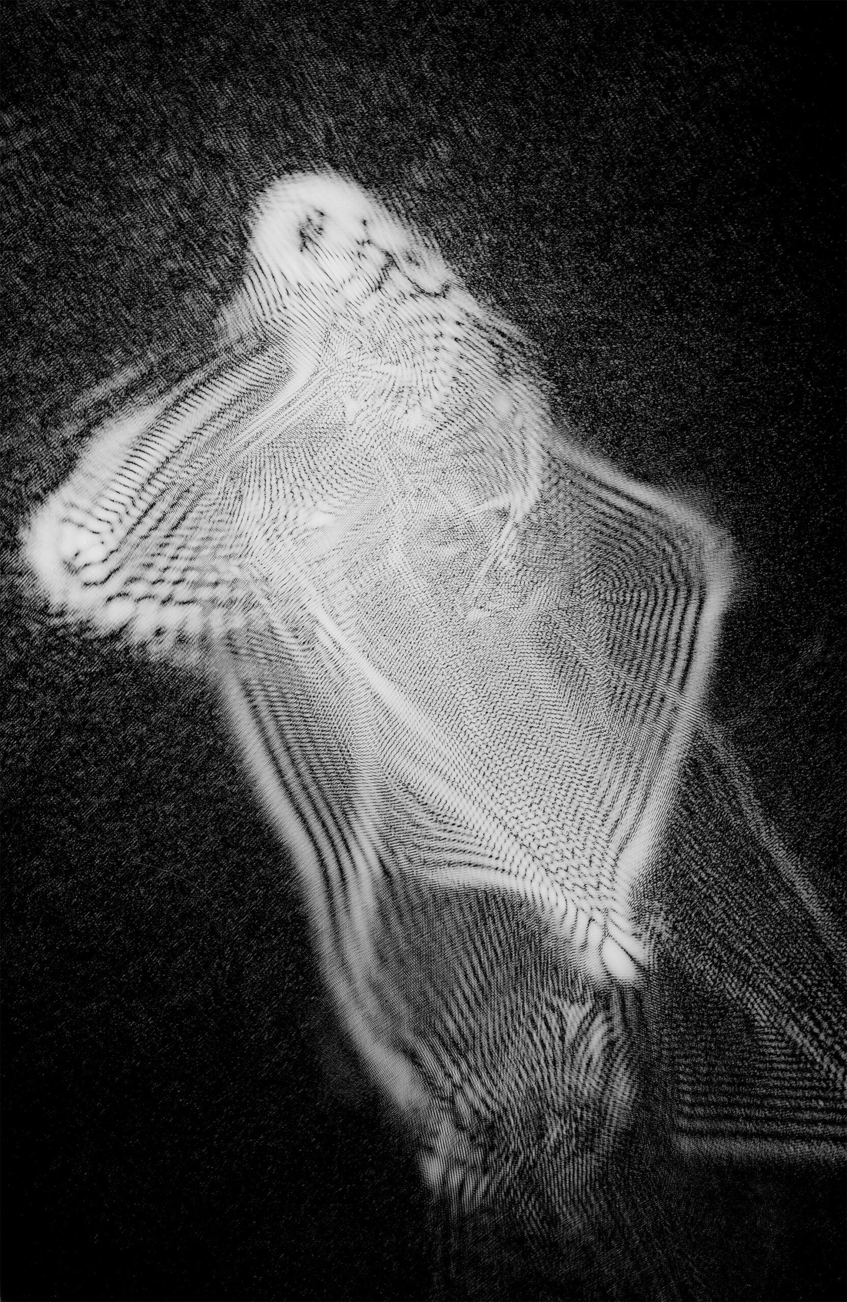 """Fotografia laserowa początek lat 80-tych<br> Bartoszko Leokadia """"Laserowe 7"""""""