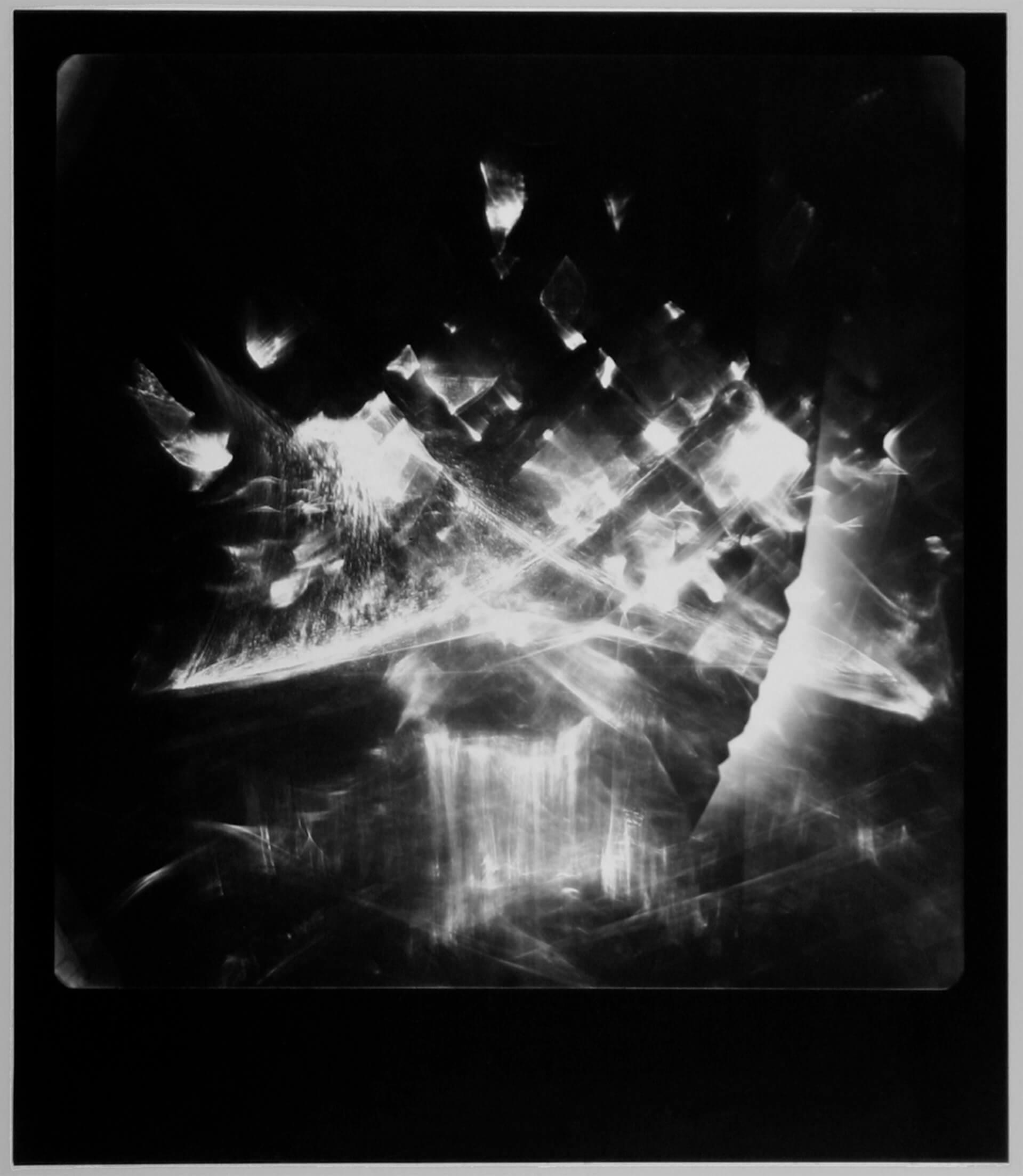 """Fotografia laserowa początek lat 80-tych<br> Bartoszko Leokadia """"Emisja"""""""